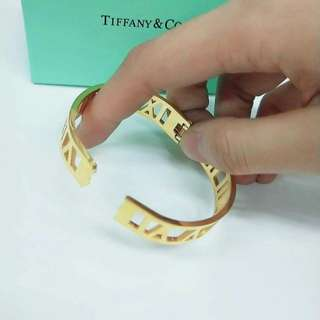 Tiffany Gold Stainless Bangle
