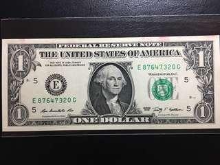 🚚 美金紙鈔/鈔票 一美元/1元 舊式小頭
