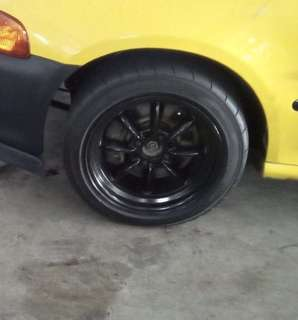 "15"" 4x100 8 spoke Compe Racing rims"