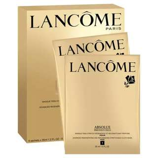 Lancome Absolu Precious Cells Advanced Regenerating and Replemishing Stretchable Cloth Mask For Face and Neck 6 x 35ml