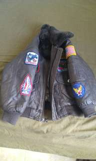 Top gun leather jacket for kid