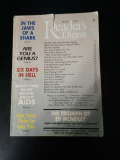 Reader digest march 1992