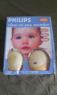 Baby monitor close to you
