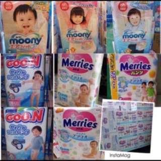 日本銷量尿片5月價目表