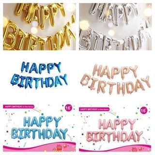 "16"" Happy Birthday Foil Balloons"