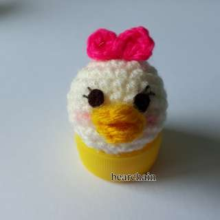 Crochet Daisy Duck Phone Charm