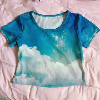 Harajuku blue sky stretchable top from Japan - very special