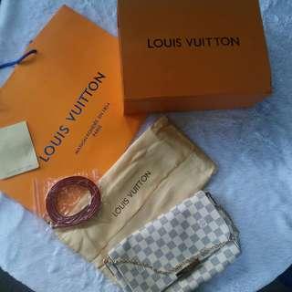 Louis Vuitton Favorite Bag in Damier Azur Canvas MM size(highgrade replica)