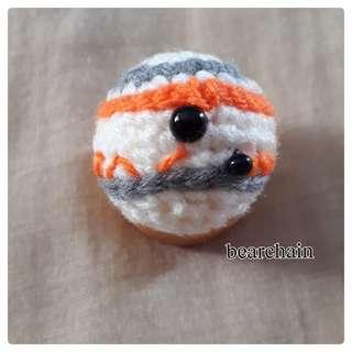 Crochet BB-8 Phone Charm