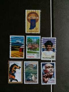 美國郵票 已銷郵票 A001