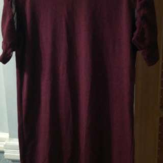 Maroon Casual dress
