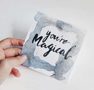 Customisable Handmade Watercolour Calligraphy Cards