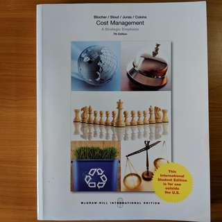 Cost Management: A Strategic Emphasis 7th Edition AC2105