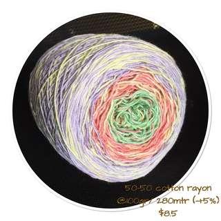 Handdye cotton yarn