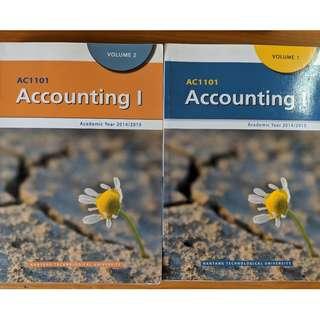 AC1101 Accounting 1 Textbook Vol 1 & 2