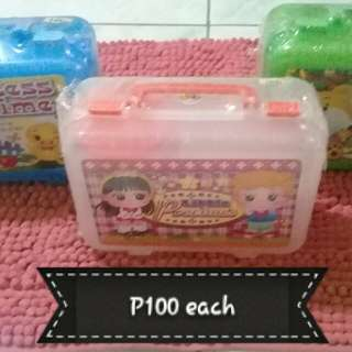 Lunch box, food containers