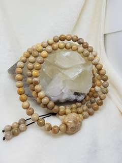 Coral Jade Prayer 108 Beads
