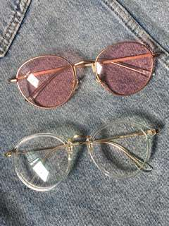 transparent spec and pink shade