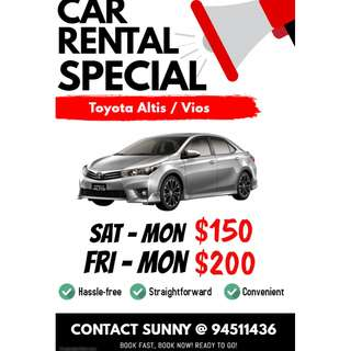 Car Rental (Last Minute 24hrs)