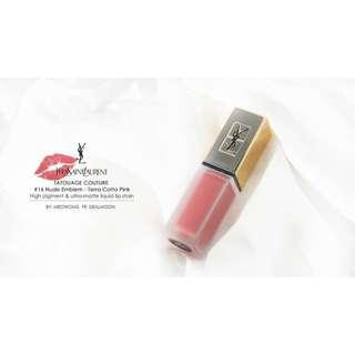 Ysl 時尚印記絲絨唇露 #16 裸色記號 美國代購