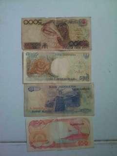uang lama tahun 1991 dalam bentuk kertas