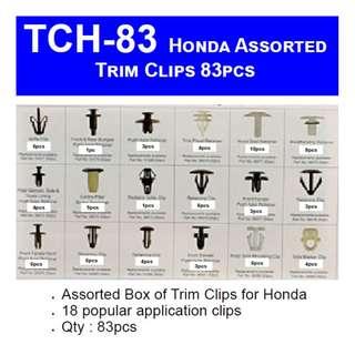 Car Honda Panel Trim Clips  83pcs Assorted