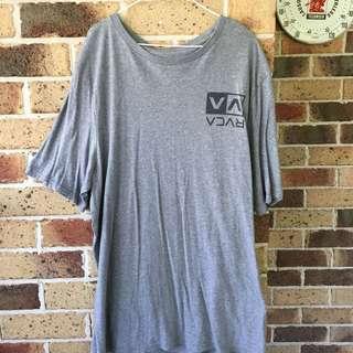 RVCA Grey Standard Fit tee