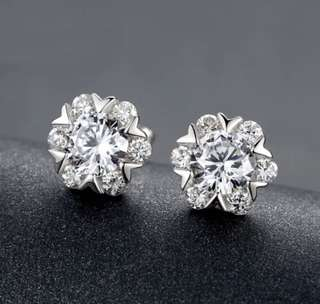 S925 Bling Bling Diamond Earrings