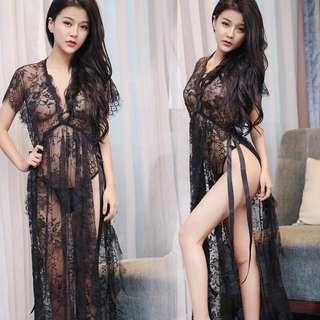 Women Sexy Elegant Long Nightdress Lingerie Sleepwear