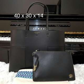TB Tote Black with Pouch