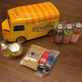 Loccitane Travel Set with metal truck container