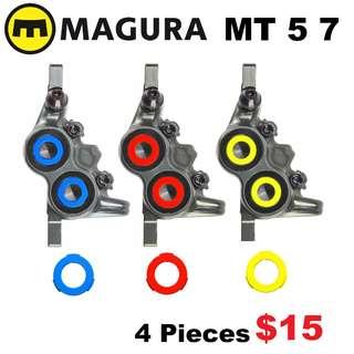 Magura MT5 MT5e MT7 Caliper Cover Kits Colour Ring--------  (Magura MT2 MT4 MT5 MT5e MT6 MT7 MT8 Trail XTR M9020 XT M8020 M8000 M785 SLX M7000 M675 M315 ) DYU