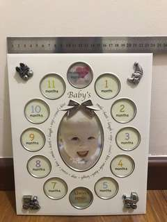 Baby 12 months growth photo frame