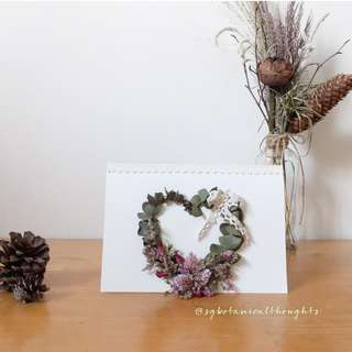 Handmade Dried Flowers Card / Home Decor