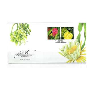 FDC #`111   Singapore Vietnam Joint Issue - Dragon and Durian Fruits