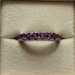 Rhodolite Garnet Ring in 925 Sterling Silver