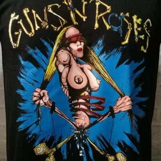guns and roses vintage 92 european tee
