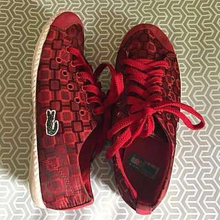 💝Sale Lacoste Red Sneakers