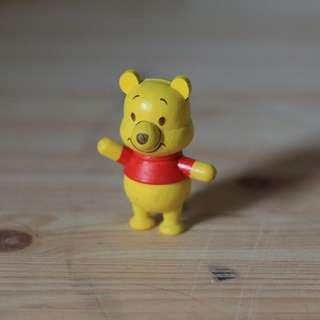 Wooden Pooh figurine