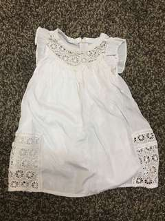 Preloved Baby Poney - White Dress