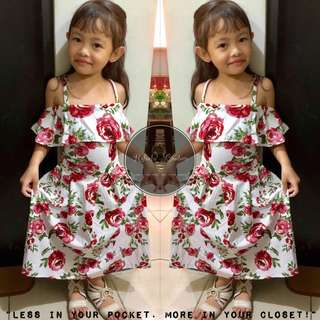 (KIDDIE) Colette Cold Shoulder Dress