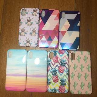 Fab iPhone X cases asstorted