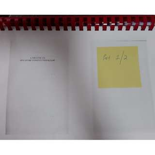 A Treatise on Singapore Constitutional Law, Thio, 2012 (photocopy)