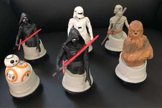 Star Wars 6 Character toppers & tumbler
