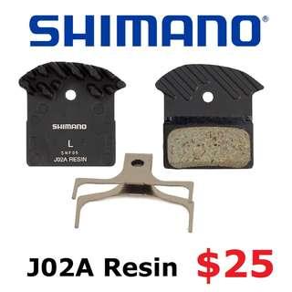 Shimano Brake Pad J02A For XTR, XT, SLX, Deore-------- (XTR M9020 XT M8020 M8000 M785 SLX M7000 M675 M315 MT2 MT4 MT5 MT5E MT6 MT7 MT8 Trail) Dyu
