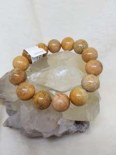 Coral Jade Bracelet 124