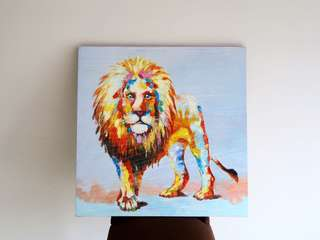 Canvas oil paint The Lion