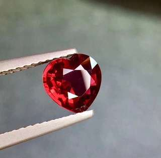 Preorder UNHEATED 1.12ct vivid to deep red ruby