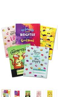 Designer Notebooks 5pcs