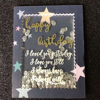 Birthday shaker card